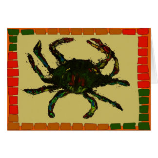 Blue Crab Quilt Card