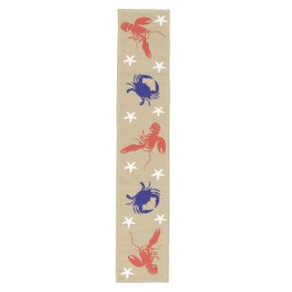 "Blue Crab & Red Lobster Nautical Beachy ""Burlap"""