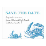Blue Crab Save the Date Postcard