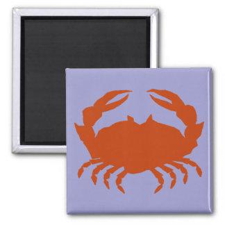 Blue Crab Square Magnet