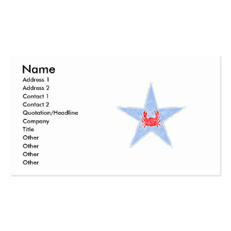 Blue Crab Star Pack Of Standard Business Cards