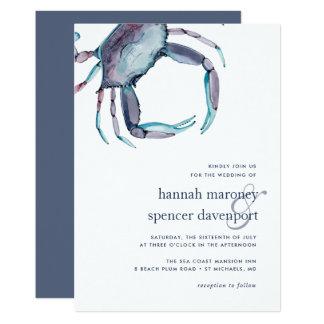 Blue Crab Wedding Invitation