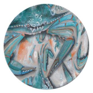 Blue Crabs Design Plate