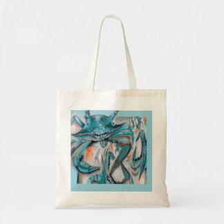 Blue Crabs Design Tote Bag