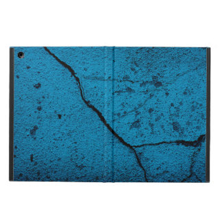 Blue cracked wall background iPad air cover