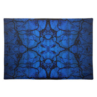 Blue cracked wall pattern placemat