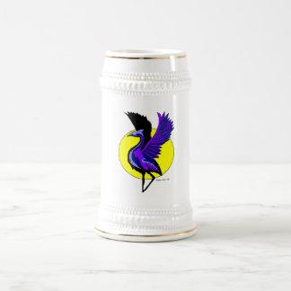 Blue Crane Beer Stien Coffee Mug
