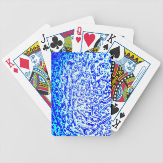 Blue Cratered Wax Abstract Art Playing Cards