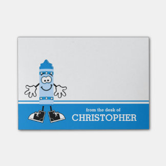Blue Crayon Personalized Post-it® Notes