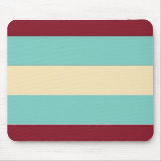 Blue Cream Stripes Pattern Mousepad