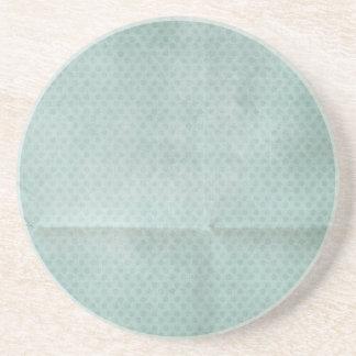 Blue Creased Polka Dots BAckground Coasters