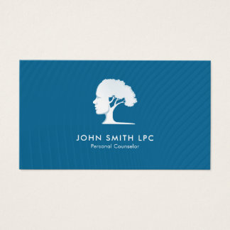 Blue Creative Psychologist Personal Counselor Business Card