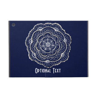 Blue Crocheted Doily Doodle Cases For iPad Mini