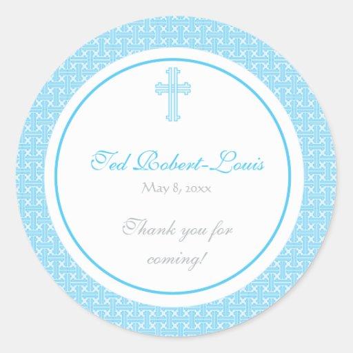 Blue Cross Address Label/Favor Sticker