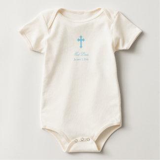 Blue Cross     Boy Christening Baby Bodysuit