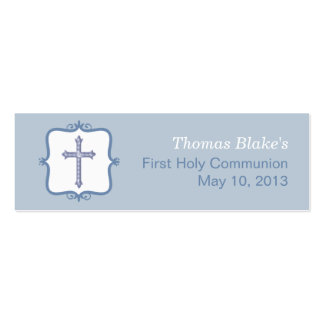 Blue Cross Communion Small Tag Pack Of Skinny Business Cards