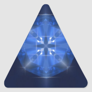 Blue Cross Design Tile by CGB Digital Art.png Triangle Sticker