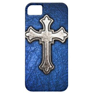 Blue Cross iPhone 5 Cover