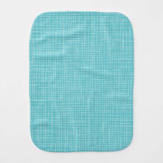 Blue Crosshatch Baby Burp Cloth