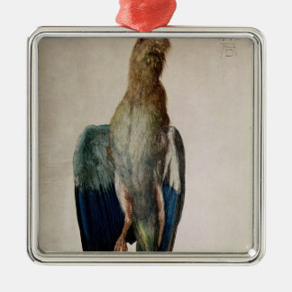 Blue Crow, 1512 Silver-Colored Square Decoration