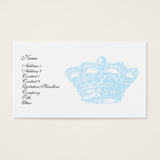 Blue Crown Business Card