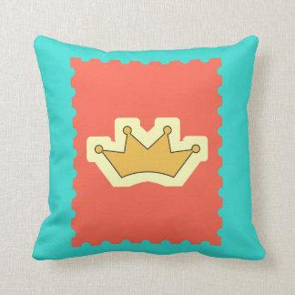 Blue Crown Cushion