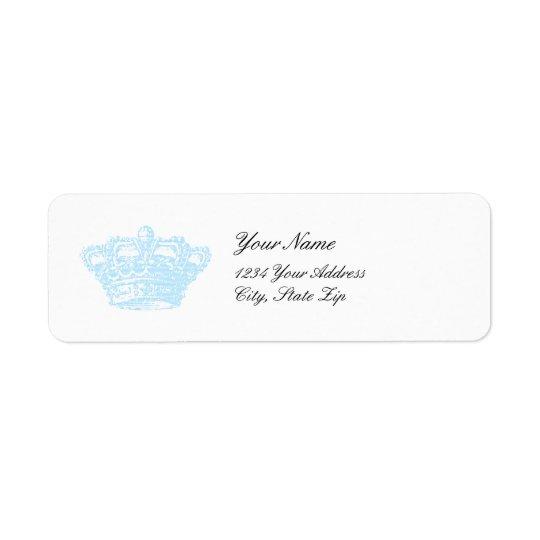 Blue Crown Return Address Label