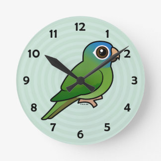 Blue-crowned Conure Wallclock
