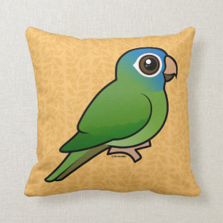 Blue-crowned Conure Throw Pillows
