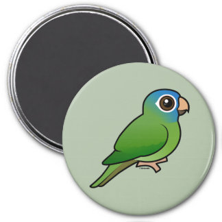 Blue-crowned Conure 7.5 Cm Round Magnet