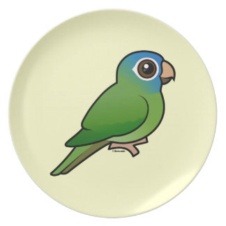 Blue-crowned Conure Party Plates