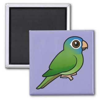 Blue-crowned Conure Square Magnet