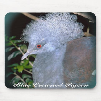 Blue Crowned Pigeon mousepad