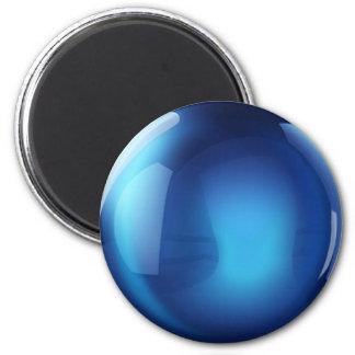 Blue Crystal Ball 6 Cm Round Magnet