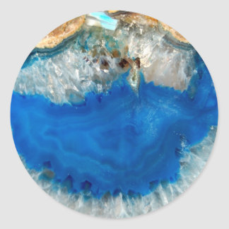 blue crystal classic round sticker