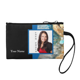 Blue crystal instagram template coin purse