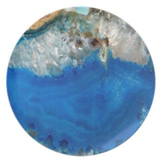 blue crystal plate