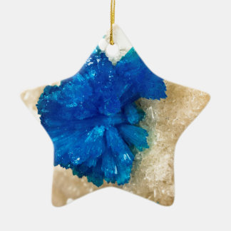 Blue Crystal Rock Hound Collector Gemology Christmas Ornament