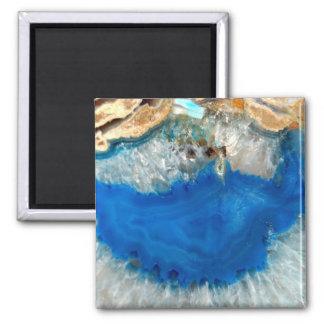 blue crystal square magnet