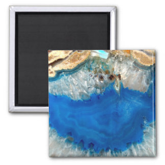 blue crystal square magnet