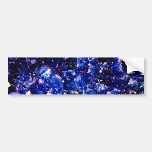 Blue Crystal Stone Bumper Stickers
