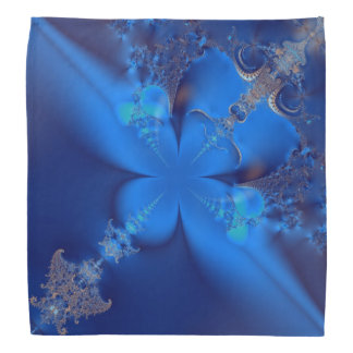 Blue Crystals Fractal Bandanna
