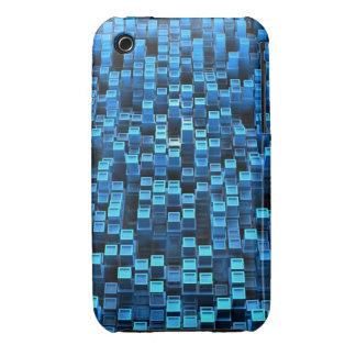 Blue cubes Case-Mate iPhone 3 cases