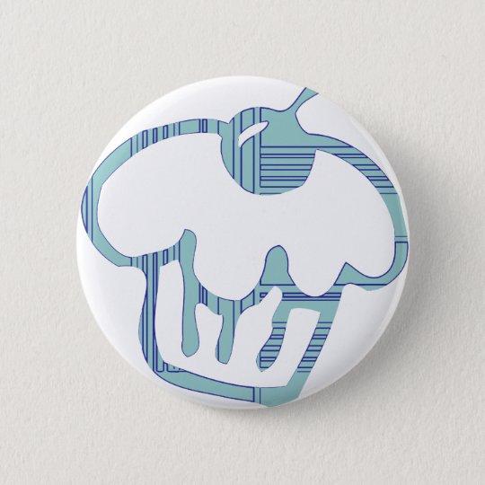 Blue Cupcake 6 Cm Round Badge