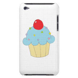 Blue Cupcake Barely There iPod Covers