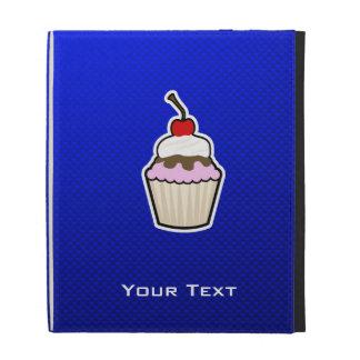 Blue Cupcake iPad Folio Case