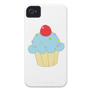 Blue Cupcake Case-Mate iPhone 4 Cases