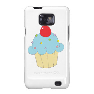 Blue Cupcake Galaxy S2 Cover