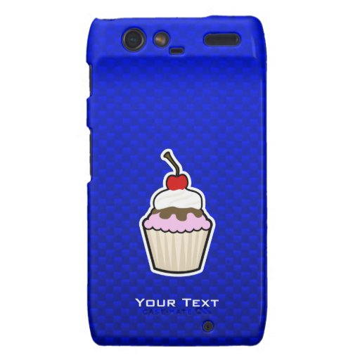Blue Cupcake Droid RAZR Covers