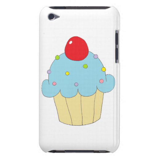 Blue Cupcake Barely There iPod Cover